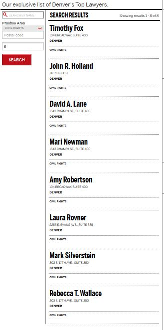 Image: List of civil rights lawyers with the names listed in text in the blog.