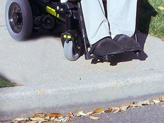 Inaccessible curb cut