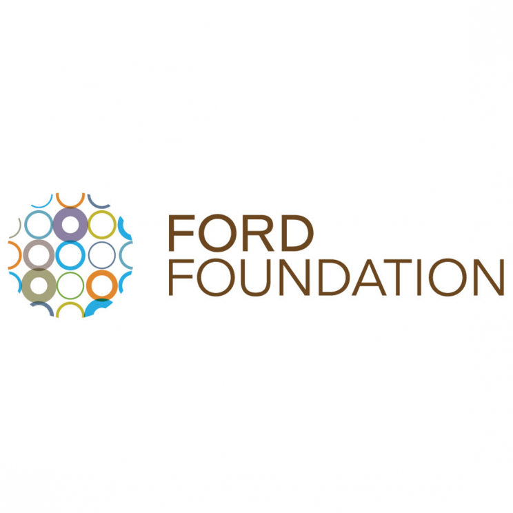 Ford Foundation logo. Image of ball composed of many multi-colored circles next to the organization's name